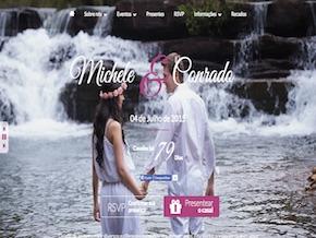 Modelo de Site de Casamento