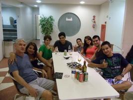 Encontro pra lá de especial: Tio Edo, Tia Ana, Lelê, Clauber, Enzo e Edinho.