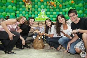 Que família linda: Glória, Camila, Paulo Antônio (Gotosura) e Gi.