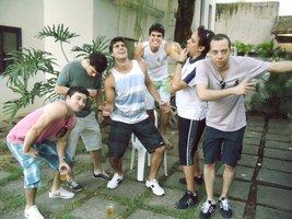 Turma da UFES: Hugo, Stefano, Vitor Malandrinho, Bruno e Lucas.