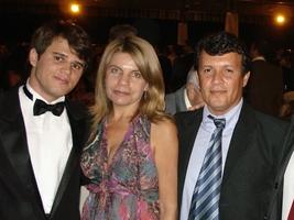 Lucas com os sogros
