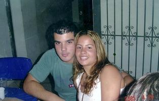 Nossa primeira foto- aniversário do Dudu em 2005.