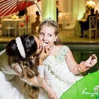 MILLENA: Uma noiva tão linda, tão fofa e que eu gosto tanto. Tia Gi, o seu casamento foi de conto de fadas e nós fizemos nosso papel direitinho, eu daminha Princesa e vc da Noiva Rainha perfeita, te adoro, momento tão especial!!!!