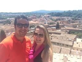 Colle de Val d'élsa - Toscana - Itália. Foi incrível pois quando chegamos no topo do mirante todos os sinos de todas as igrejas da cidade tocaram juntos!