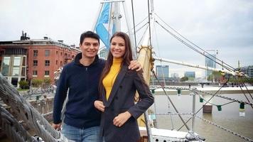 Primeira vez que saímos juntos, visitando Puerto Madero em Buenos Aires. 😍❤