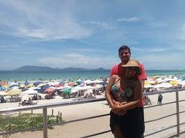 Seja na praia ou no trabalho, estar ao seu lado é que me faz feliz! (Noiva)