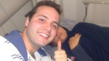 Fernanda internada no hospital