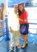 No porto, antes da viagem do noivo, a trabalho, para Breves - 28/06/17