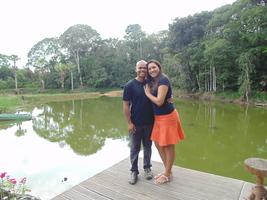 O casal no restaurante rural Terra do Meio - 29/12/16