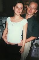 Formatura do Fábio na PRF, Aleksandra estava grávida da Bruna, 2004.