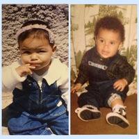 Nós dois pequenininhos ! ♥️💙