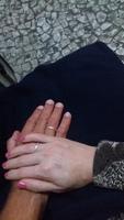 Aliança de compromisso de namoro. 30 de Março de 2018