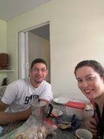 Nosso primeiro lanche juntos, depois de chegar em São Carlos.