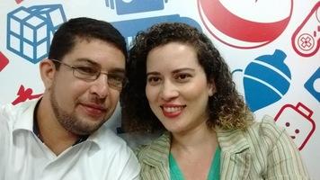 Comemorando o nosso primeiro dia dos namorados juntos na pizzaria Domino em São Carlos - SP.