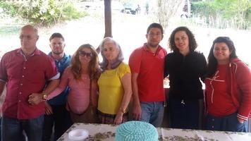 Primeira comemoração de aniversário do Oziel com a sogra (Lourdes), tias (Jacira e Azenaide), tio (Geraldo) e o primo (Lucas) e seu amor Abilene em Petrópolis - RJ.
