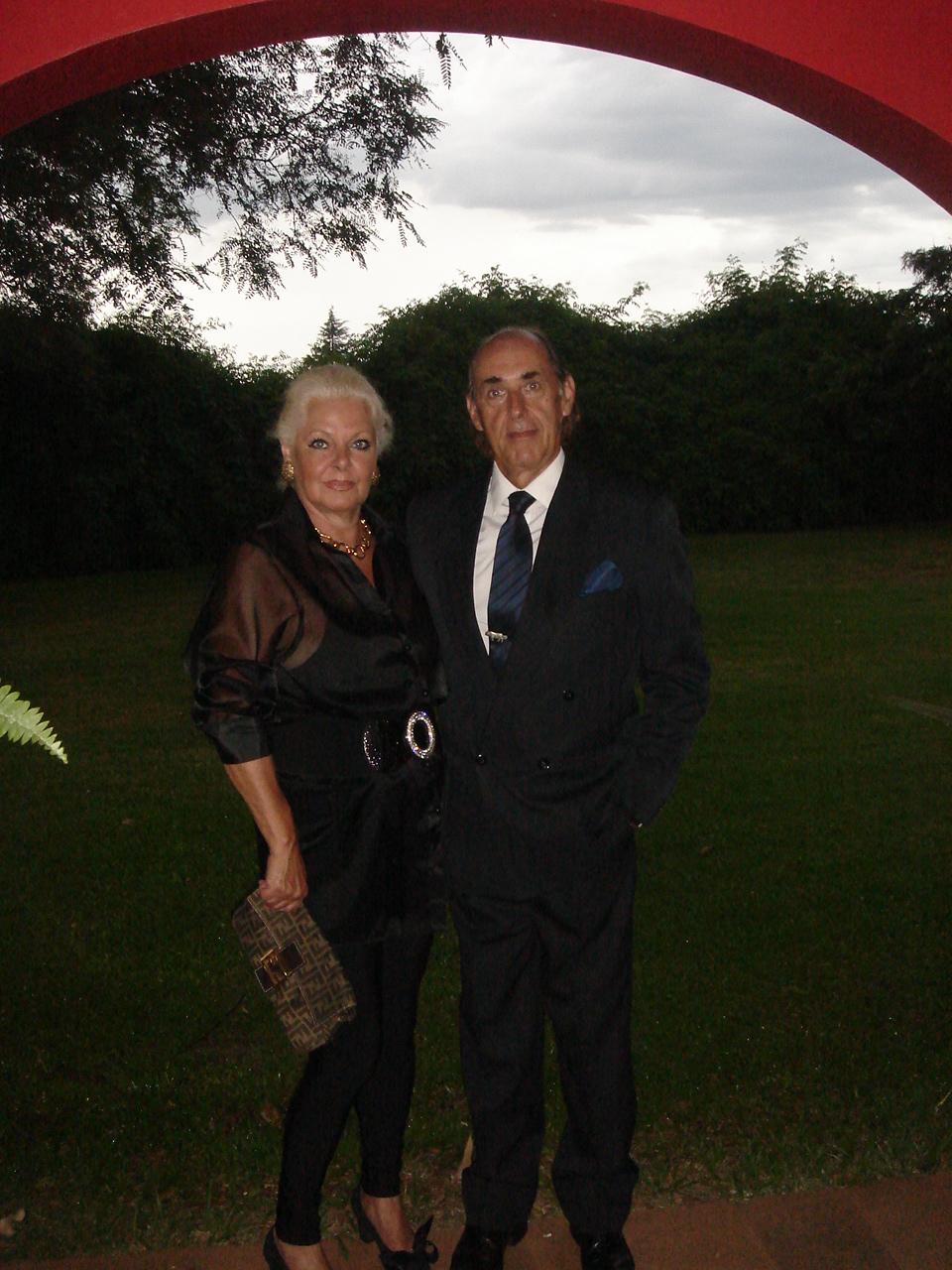 Liana e Saulo, pais do noivo
